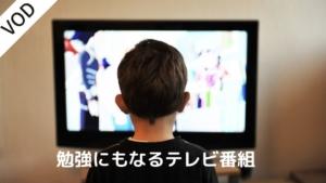 【コロナ対策】勉強にもなる!?罪悪感なく子供に見せられるテレビ番組